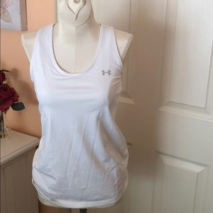 White Under Armor Compression Workout Shirt